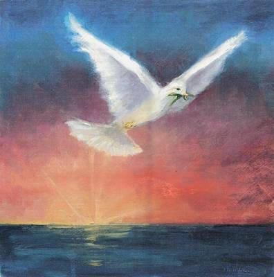Hope Painting - The Wings Of Peace by Maria Hunt