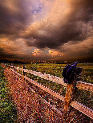 Cowboy Hat Photograph - His Thoughts Were His Only Companions by Phil Koch