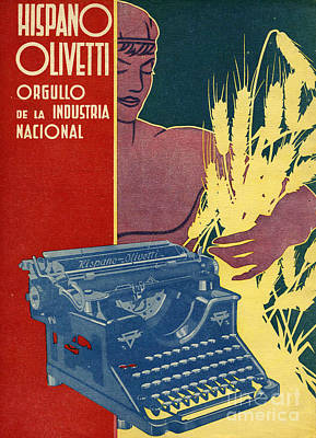 Hispano Olivetti 1936 1930s Spain Cc Art Print by The Advertising Archives