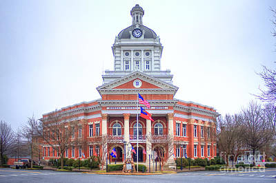 Travel - Historic Morgan County Court House Morgan County Georgia by Reid Callaway