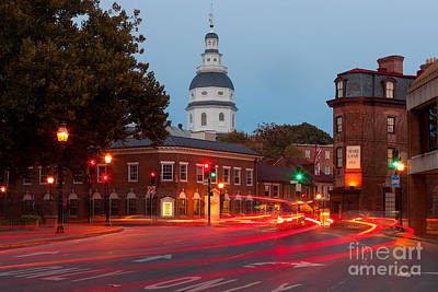 Photograph - Historic Annapolis And Evening Traffic II by Clarence Holmes