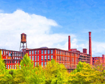 Photograph - Historic Atlanta - Fulton Cotton Mill by Mark E Tisdale