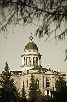 Photograph - Historic Auburn Courthouse 6 by Sherri Meyer