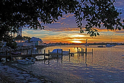 Sunrise Photograph - Historic Bridge Street  by HH Photography of Florida