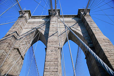 Historic Brooklyn Bridge, New York Art Print