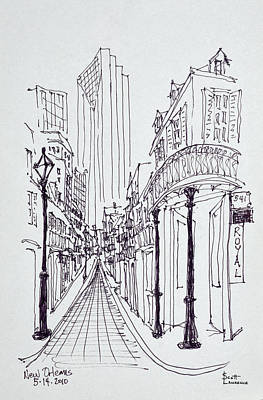 Pen And Ink Drawing Photograph - Historic Buildings Along Canal Street by Richard Lawrence