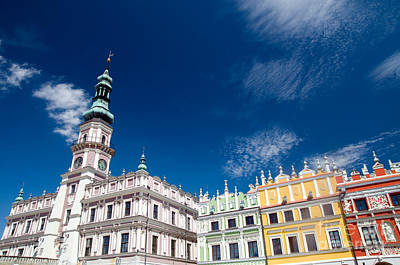 History Photograph - Historic Buildings In Zamosc by Michal Bednarek