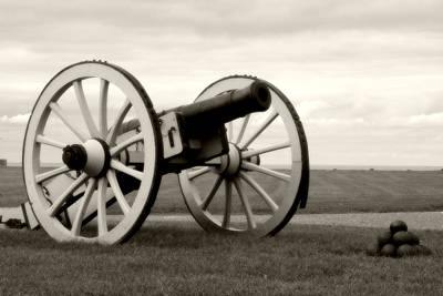 Historic Cannon At Old Fort Niagara Print by Heather Allen
