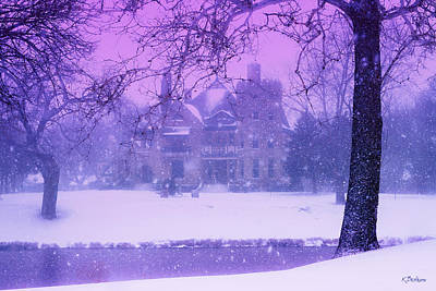 Photograph - Historic Castle - Historic Snowstorm by Kat Besthorn