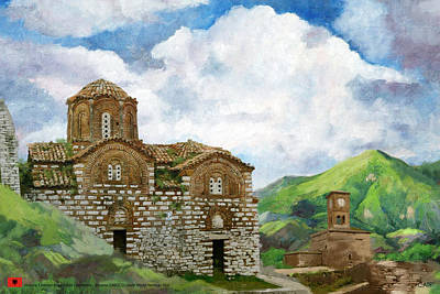 Dome Painting - Historic Centers Of Berat And Gjirokastra by Catf