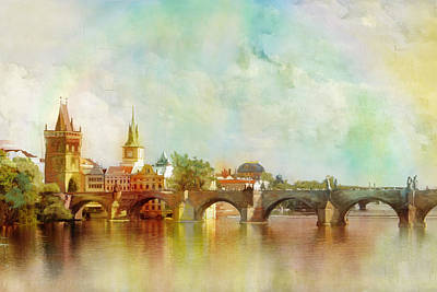 Trinity Painting - Historic Centre Of Prague  by Catf