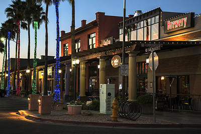 Photograph - Historic Chandler Az Downtown Boardwalk by Dave Dilli