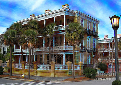 Photograph - Historic Charleston Mansion by Kathy Baccari