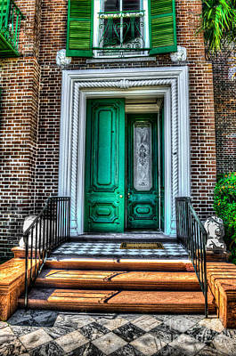 Historic Charleston Sc Door Art Print