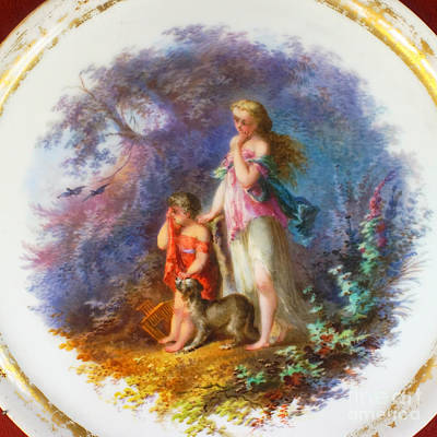Photograph - historic china plate from Lithuania 4 by Rudi Prott