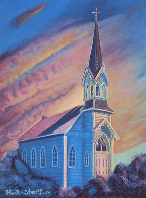 Belfry Painting - Historic Church  by Heather Stinnett