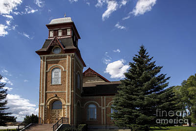 Photograph - Historic Church In Randolph Utah by Richard Lynch