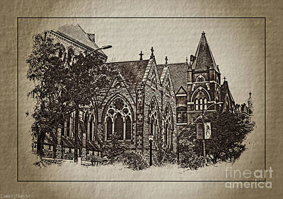 Photograph - Historic Churches St Louis Mo - Digital Effect 1 by Debbie Portwood