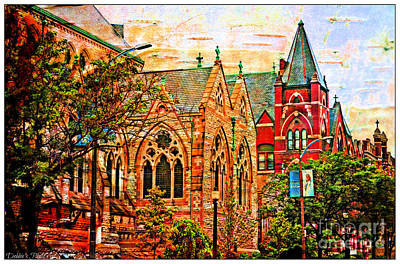 Photograph - Historic Churches St Louis Mo - Digital Effect 6 by Debbie Portwood