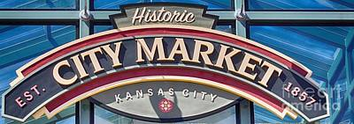 Photograph - Historic City Market Sign  by Liane Wright