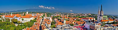 Photograph - Historic City Of Zagreb Panoramic by Brch Photography