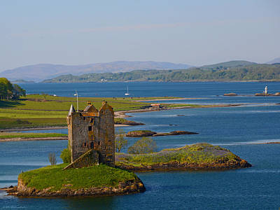 Photograph - Historic Coastal Stalker Castle Linnhe Loch Scotland by Schwartz Nature Images