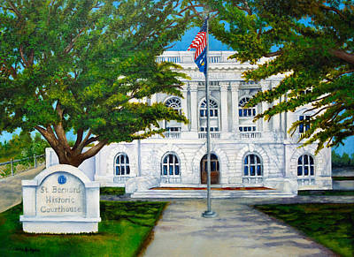 Law Courts Painting - Historic Courthouse by Elaine Hodges