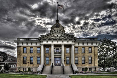 Historic Courthouse Art Print by Jim Speth