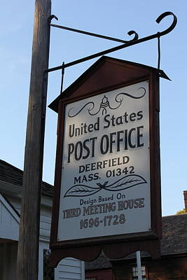 Historic Deerfield Post Office Art Print by DustyFootPhotography