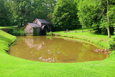 Mabry Mill Photograph - Historic Edwin B. Mabry Grist Mill by Panoramic Images