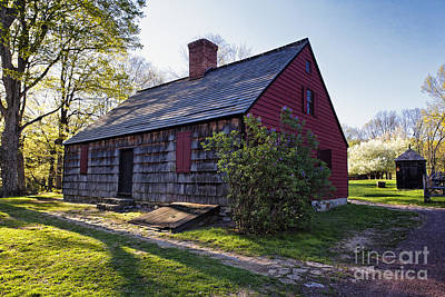 Historic Site Photograph - Historic Farmhouse In Jockey Hollow by George Oze