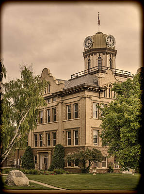 Historic Fergus County Courthouse Print by Thomas Young