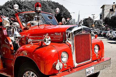 Photograph - Historic Fire Engine San Francisco by Gabriele Pomykaj