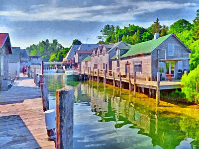 Digital Art - Historic Fishtown In Leland Michigan by Digital Photographic Arts