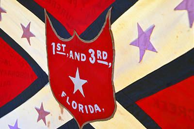 Historic Florida Flag Art Print by David Lee Thompson