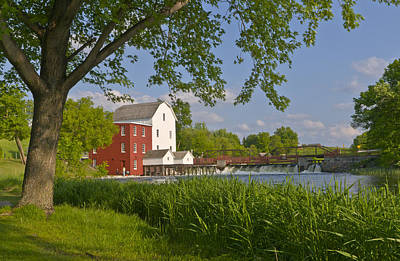 Historic Flour Mill By A River Art Print
