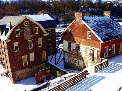 Photograph - Historic Flour Mill - Colonial Industrial Quarter - Bethlehem Pa by Jacqueline M Lewis