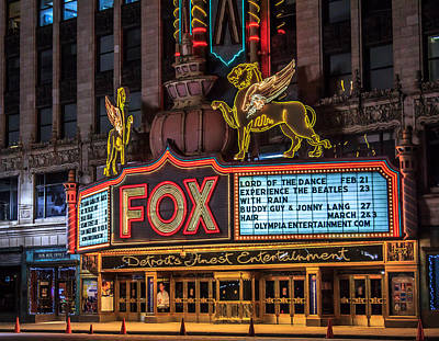 Art Print featuring the photograph Historic Fox Theatre In Detroit Michigan by Peter Ciro