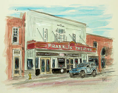 Franklin Tennessee Painting - Historic Franklin Theatre by Tim Ross