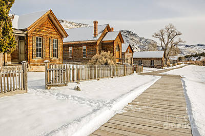 Historic Ghost Town Art Print by Sue Smith