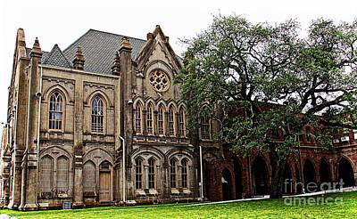 Photograph - Historic Gothic Church In Galveston by Audreen Gieger