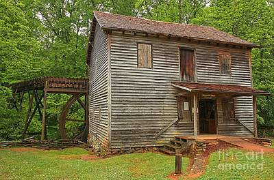 Photograph - Historic Hagood Grist Mill by Adam Jewell