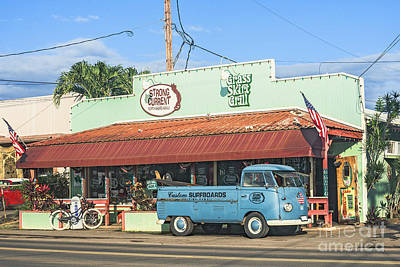 Historic Haleiwa Surf Town On The North Shore Of Oahu Art Print by Aloha Art
