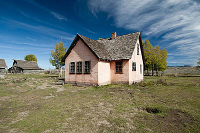 Little House On The Prairie Photograph - Historic House In Grand Teton National by William H. Mullins