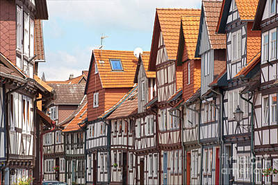 Historic Houses In Germany Art Print by Heiko Koehrer-Wagner