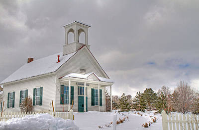 Photograph - Historic Huffaker Schoolhouse by Donna Kennedy