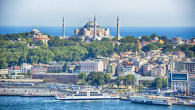 Aya Sofya Photograph - Historic Istanbul by Stephen Stookey