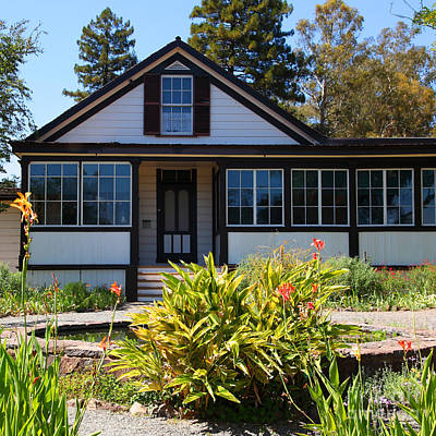 Historic Jack London Cottage And Garden In Glen Ellen California 5d24556 Square Art Print by Wingsdomain Art and Photography