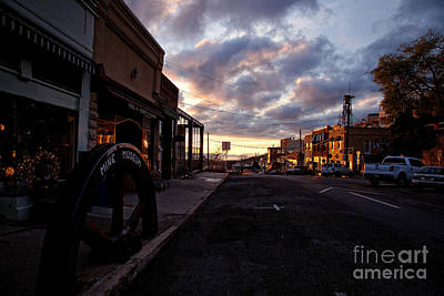 Photograph - Historic Jerome Arizona Sunrise by Ron Chilston