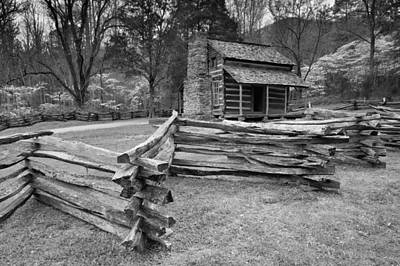 Photograph - Historic John Oliver Cabin by Michael Blanchette